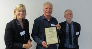 Dr Ole Michael Spaten receiving his Fellowship Award, 12th October, 2018